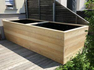 visoka greda na leseni terasi